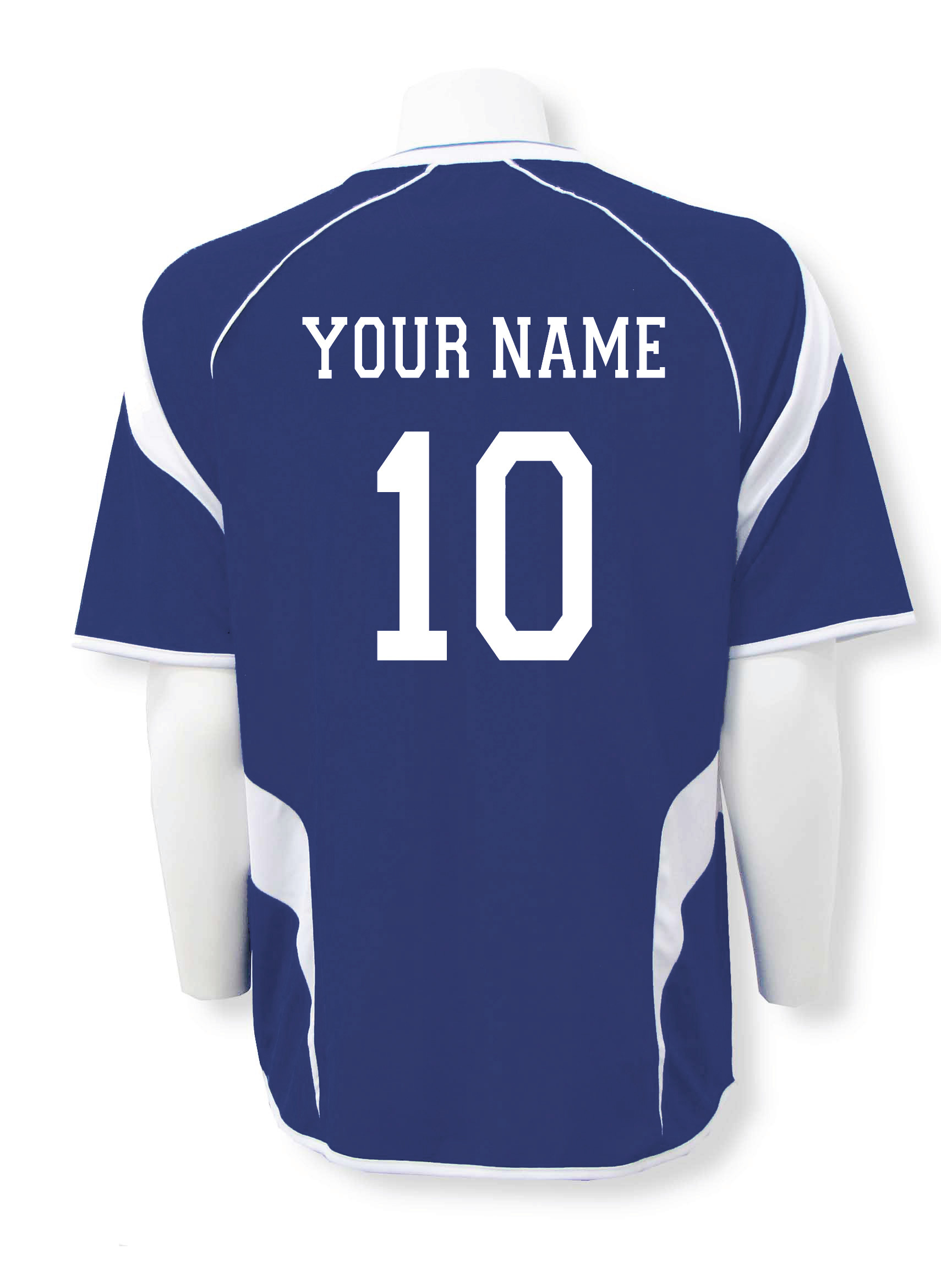 Soccer jersey customized with name and number by Code Four Athletics