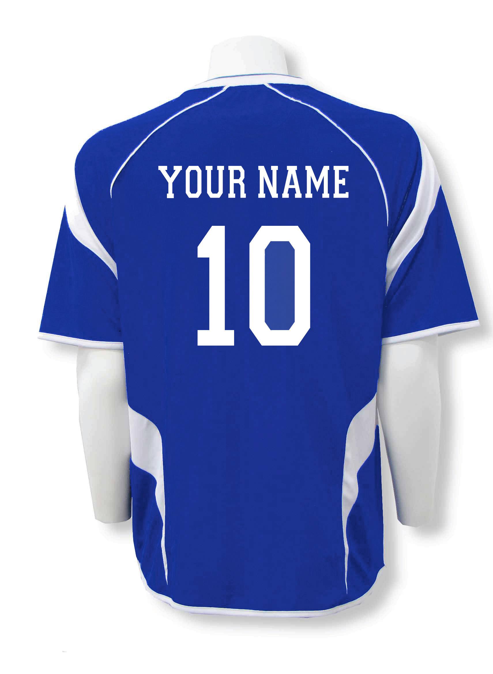 Velocity jersey back royal your name and number