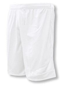 Velocity soccer shorts in white/white