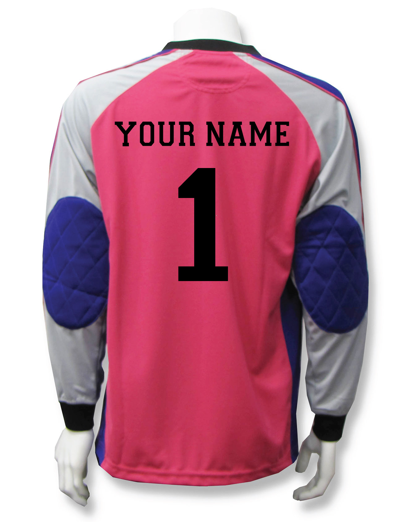 Victory soccer goalie jersey with name and number on back by Code Four Athletics