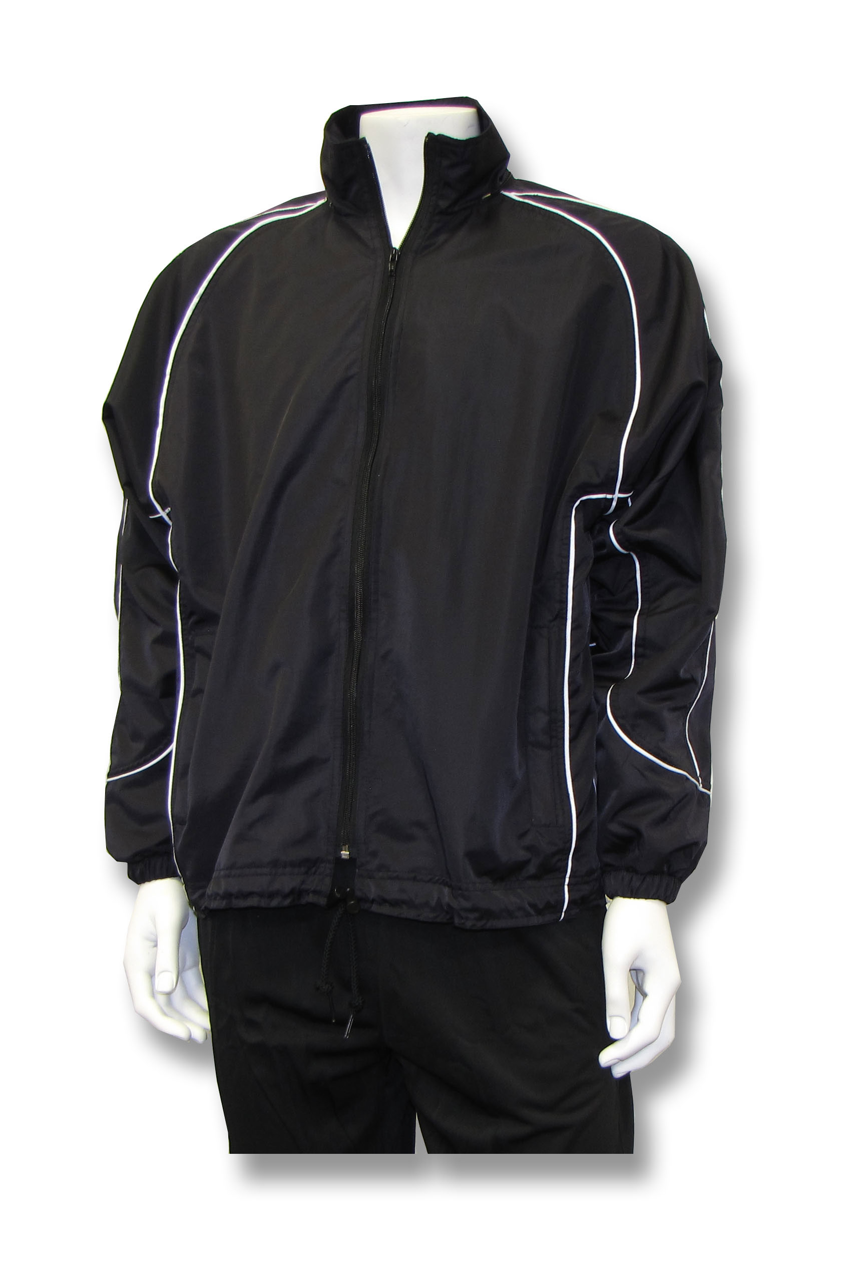 Viper soccer rain jacket in black by Code Four Athletics