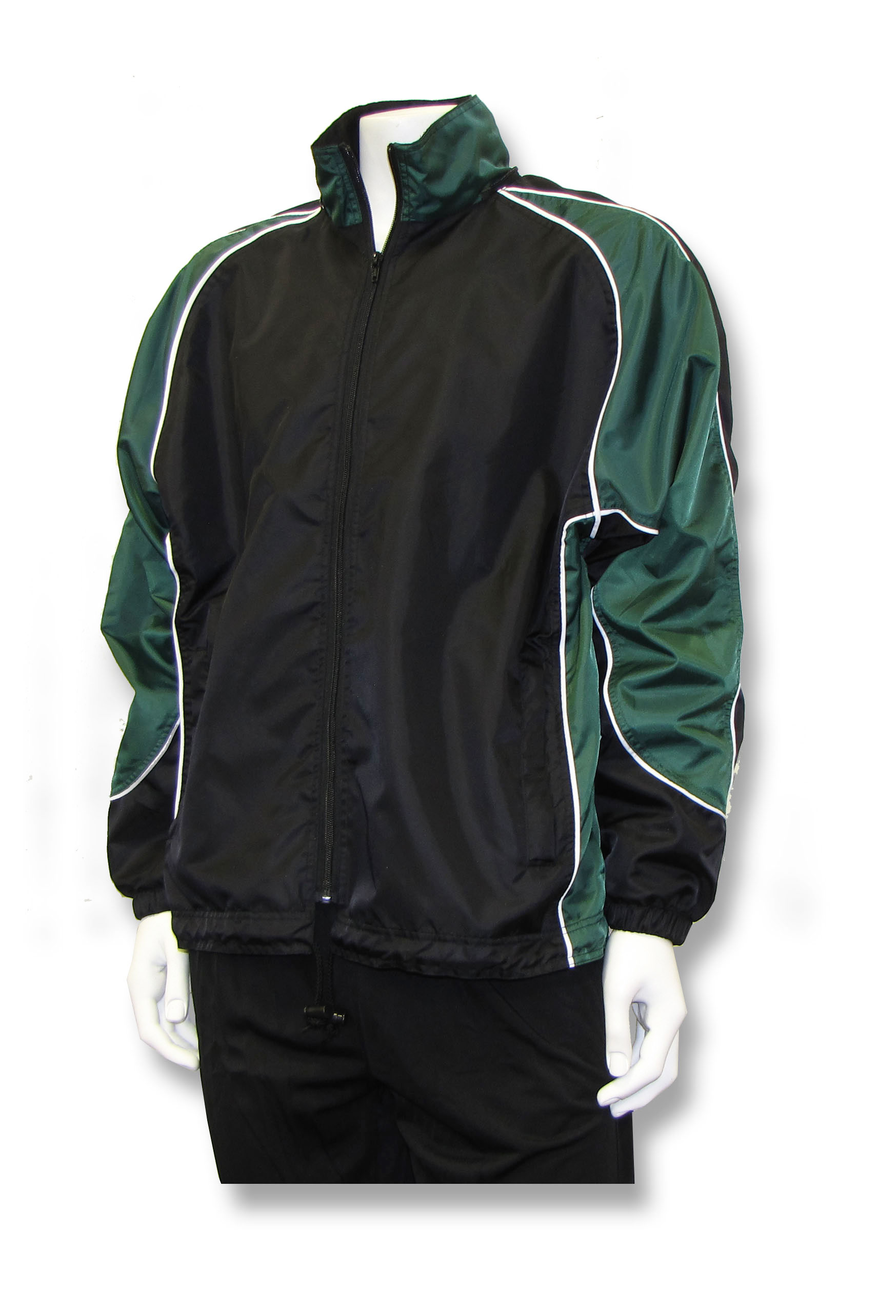 Viper soccer rain jacket in black/forest by Code Four Athletics