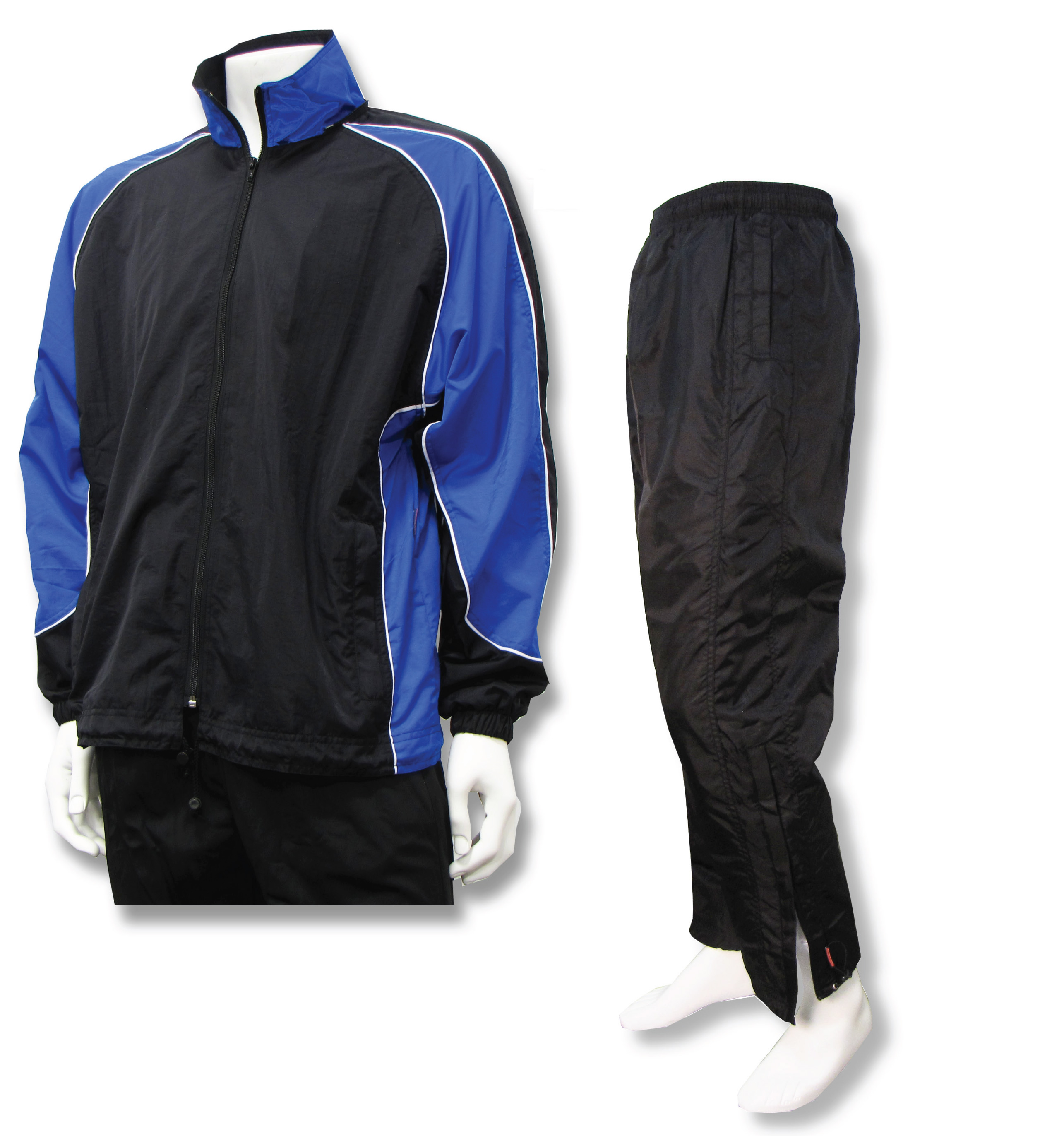 Water resistant warmup set in royal/black by Code Four Athletics