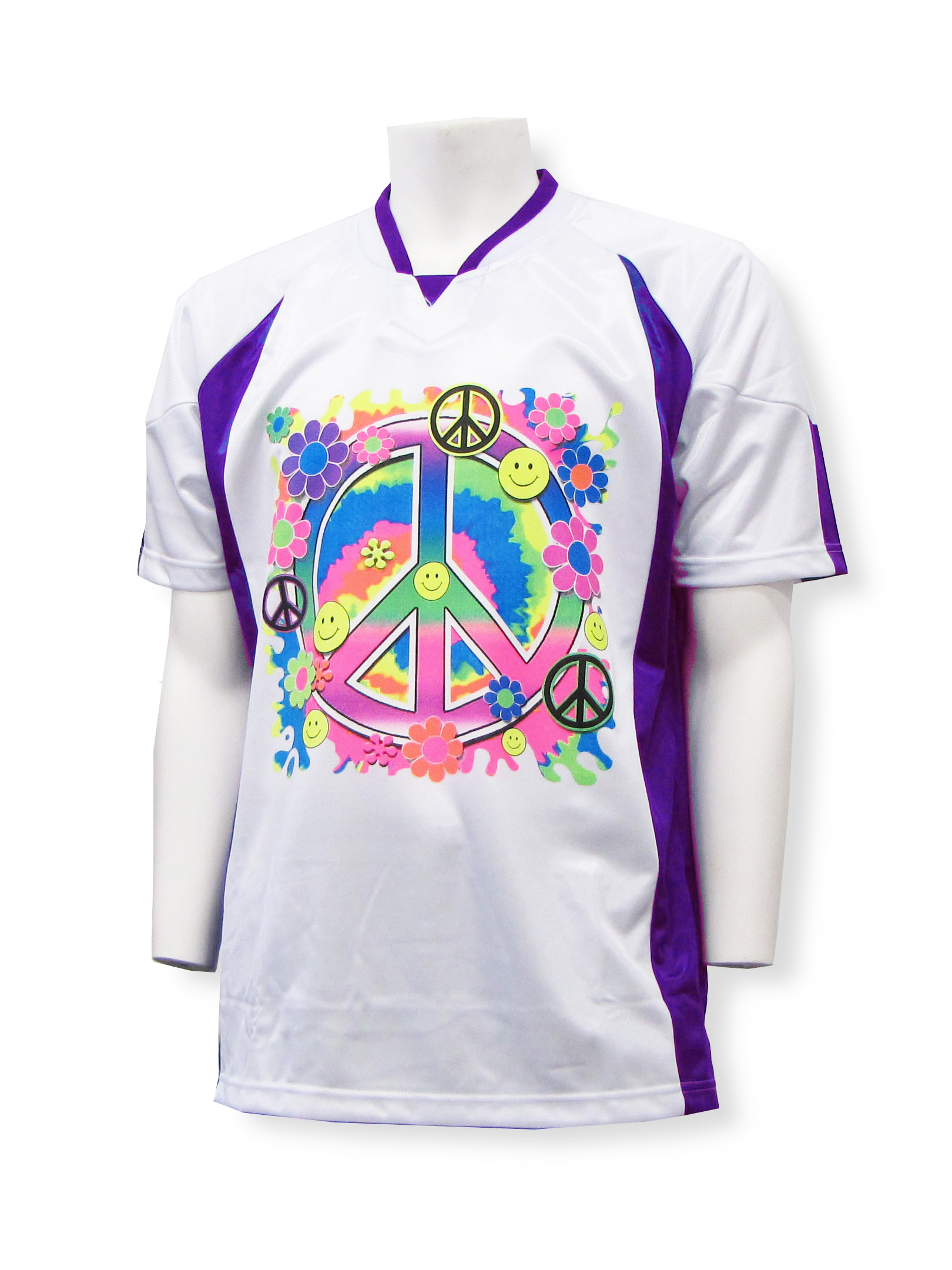 Peace Keeper short-sleeve goalie jersey in white/purple by Code Four Athletics