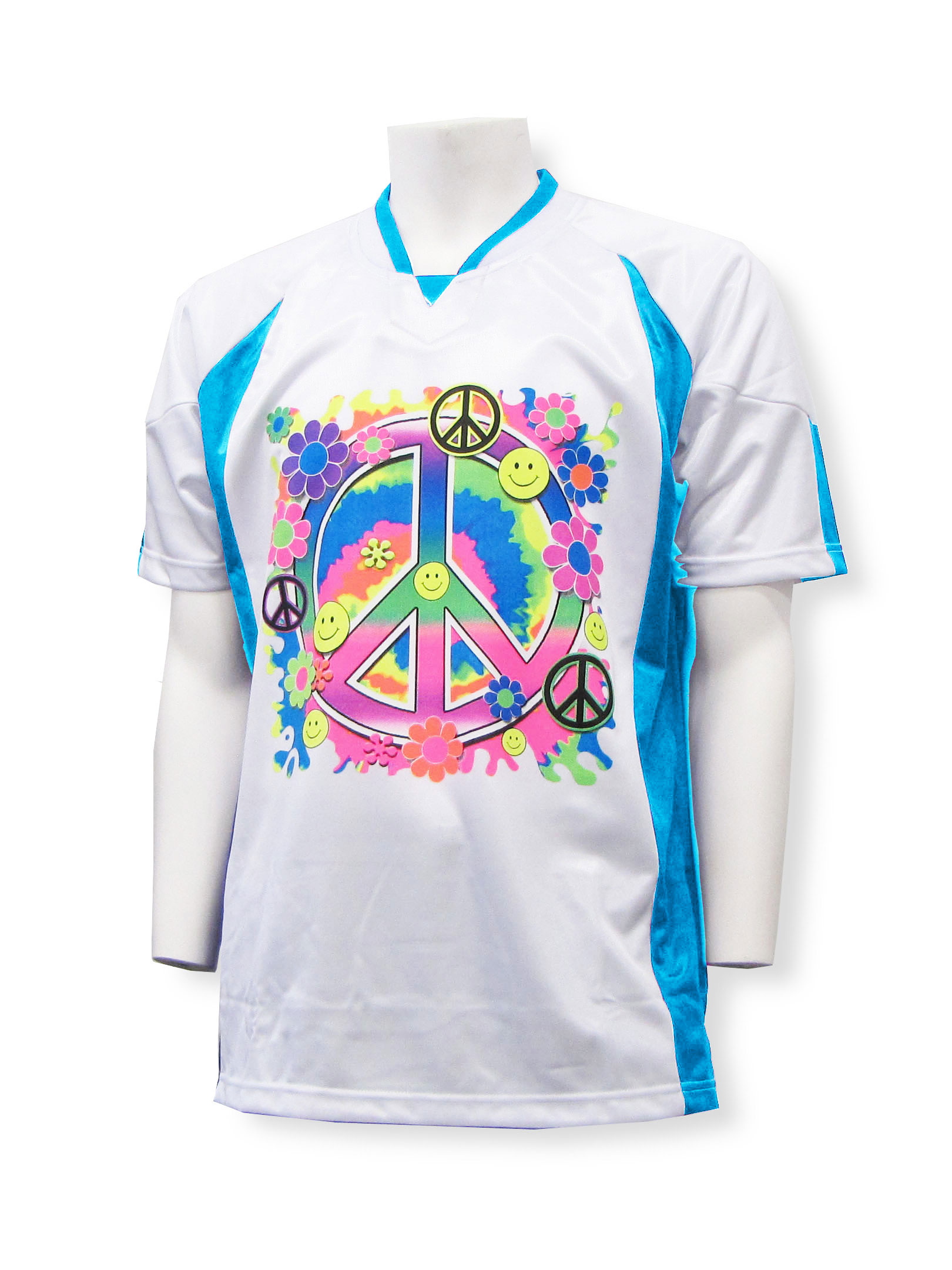 PeaceKeeper goalie jersey in white/sky blue by Code Four Athletics