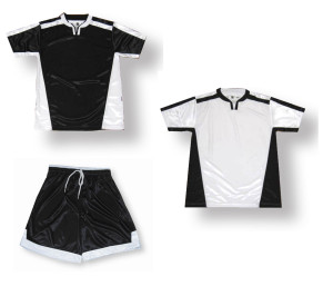 Winchester Soccer Uniform kit in black/white by Code Four Athletics