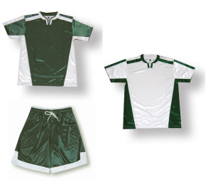 Winchester soccer uniform kit by Code Four Athletics in forest/white