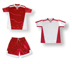 Winchester Soccer uniform Kit in red/white by Code Four Athletics