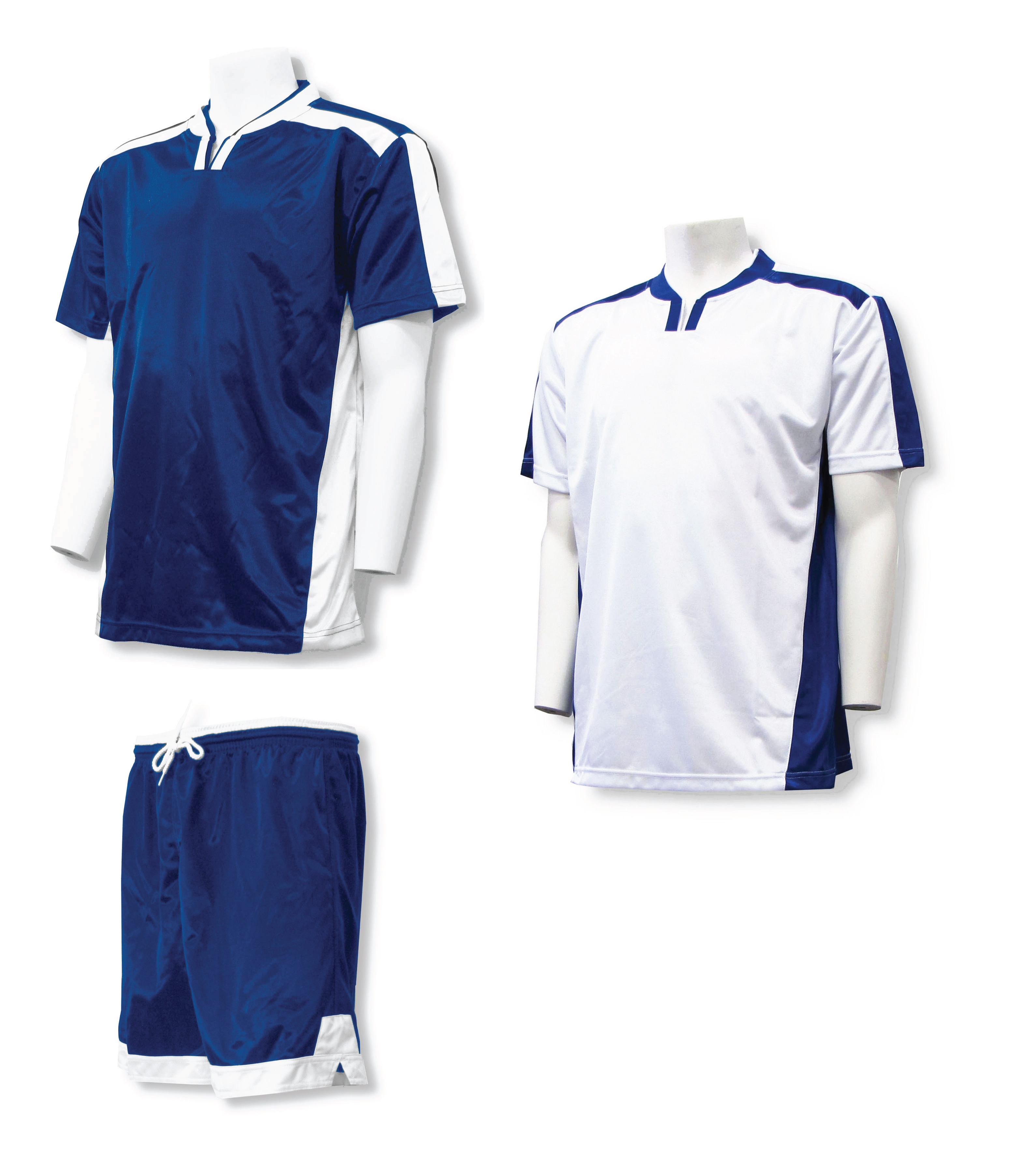 Winchester soccer uniform kit in navy/white by Code Four Athletics
