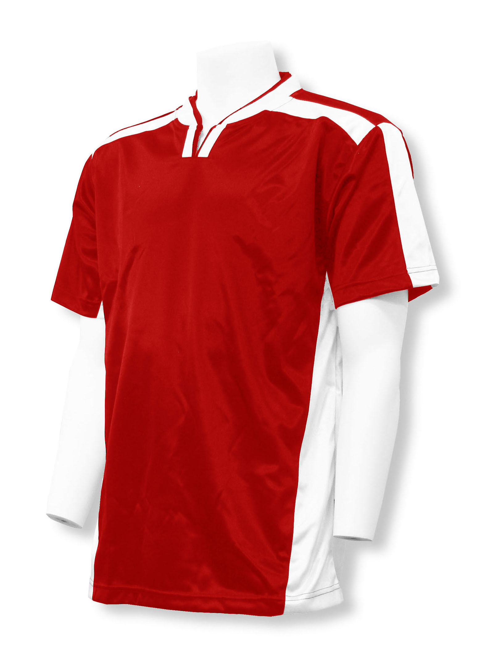 Winchester soccer jersey in red/white by Code Four athletics