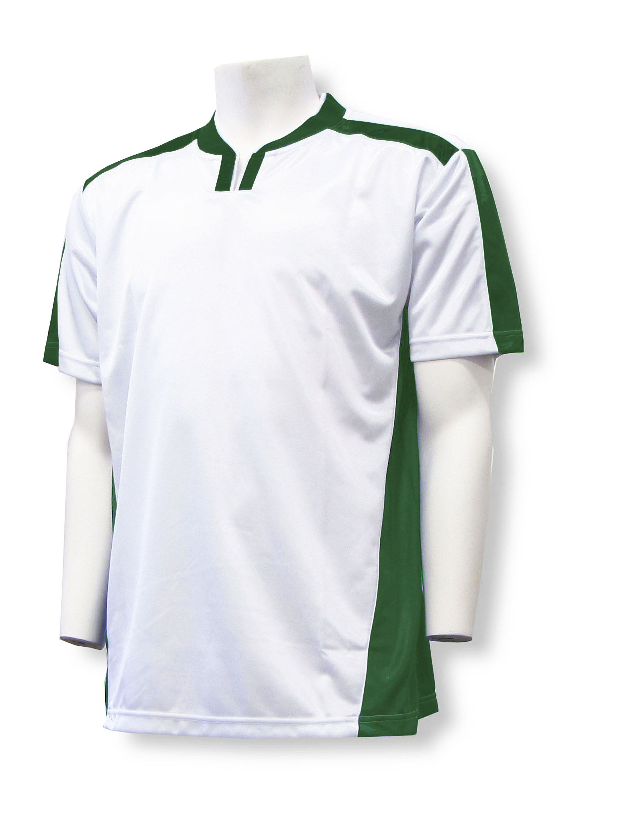 Winchester soccer jersey in white/forest by Code Four Athletics