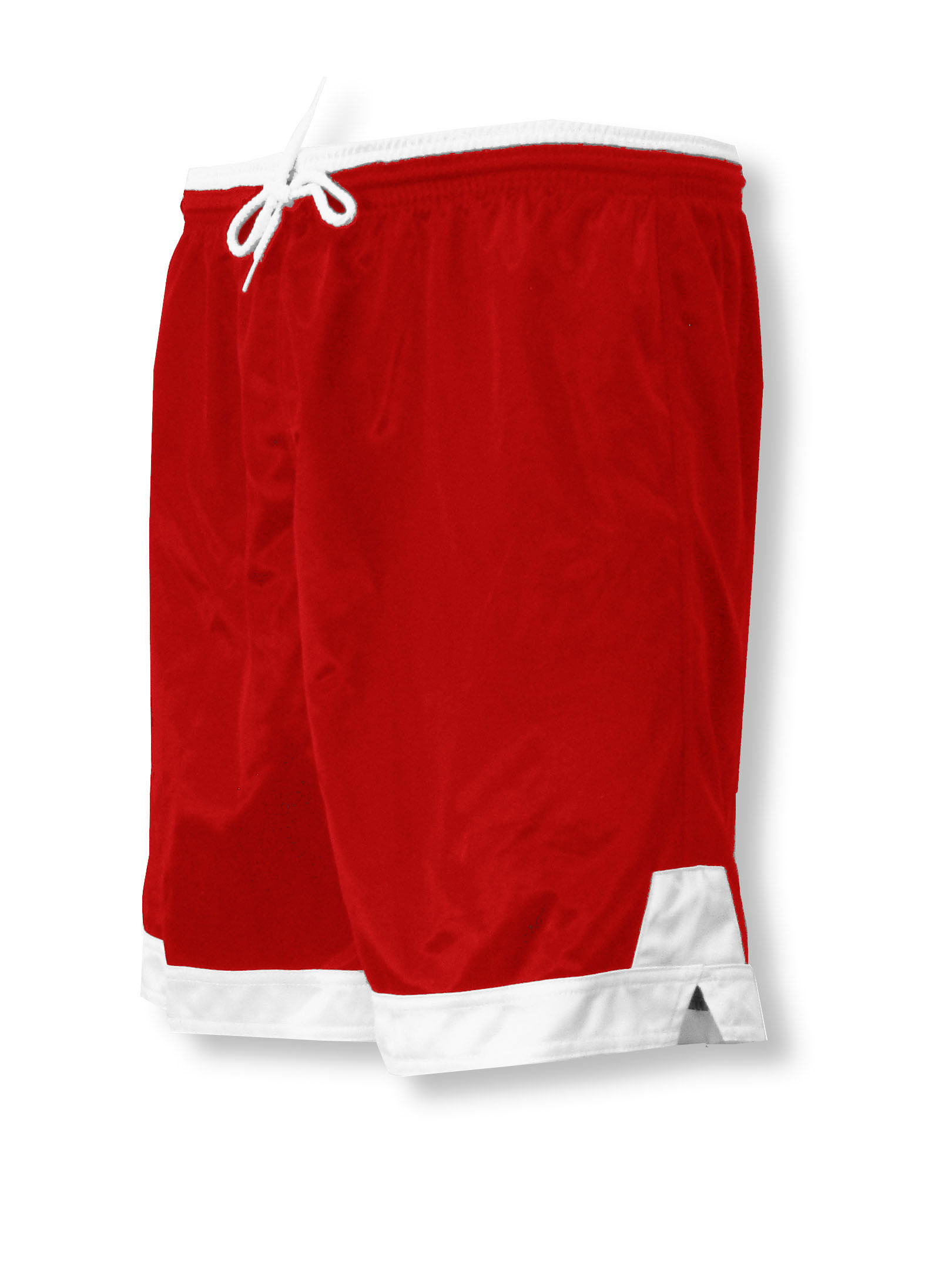 Winchester soccer shorts in red/white by Code Four Athletics