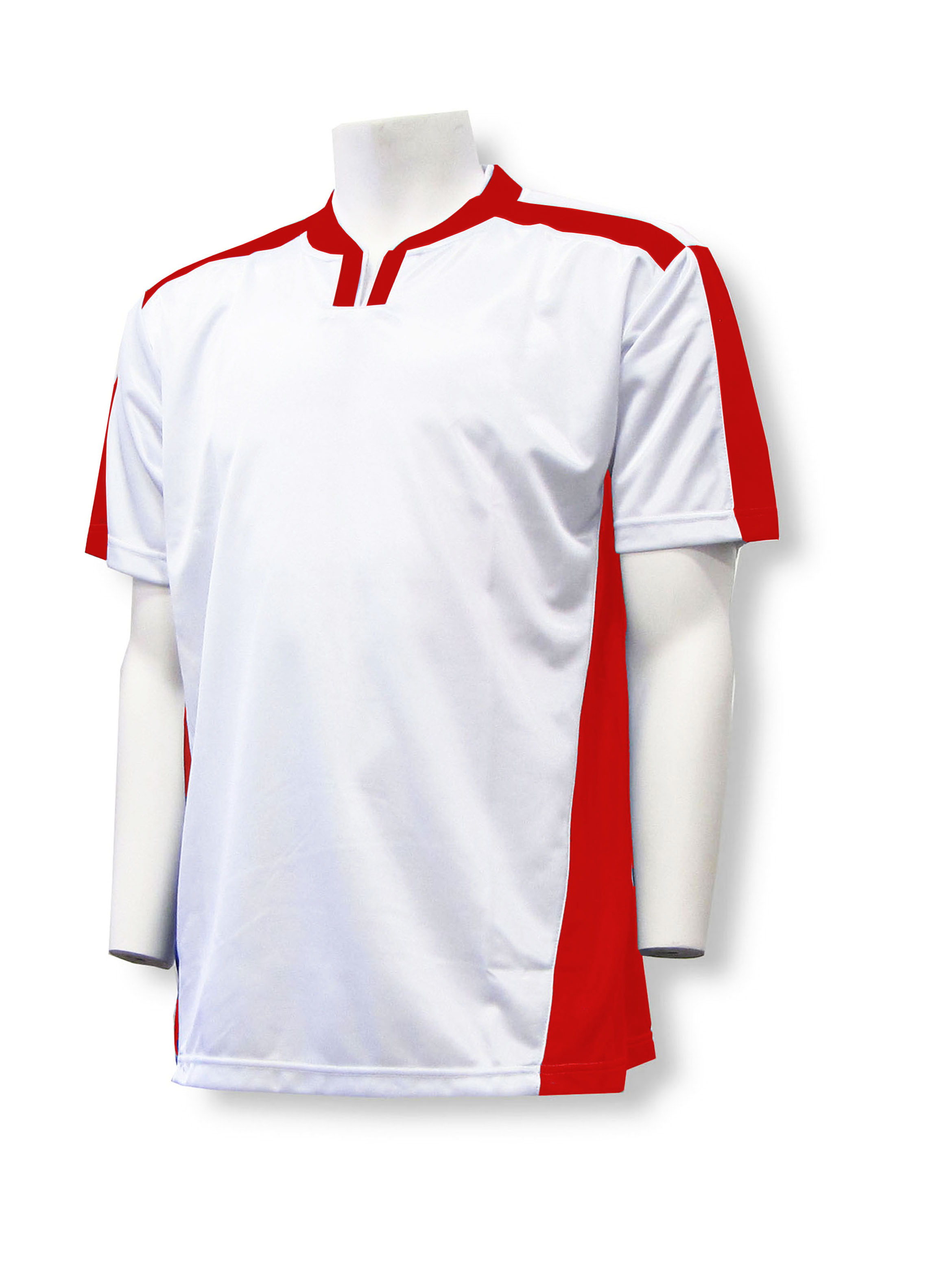 Winchester soccer jersey in white/red by Code Four Athletics
