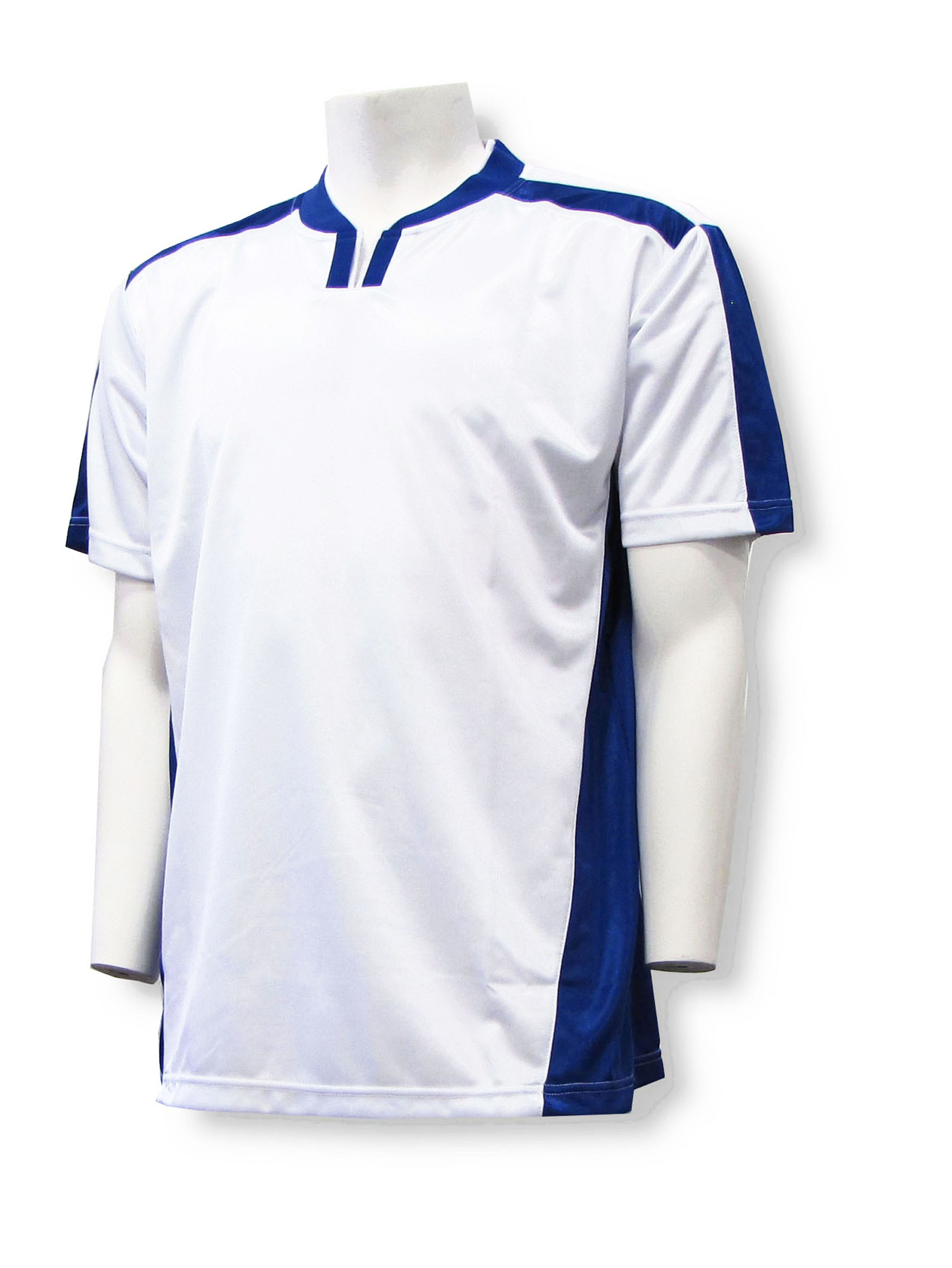 Winchester soccer jersey in white/navy by Code Four Athletics