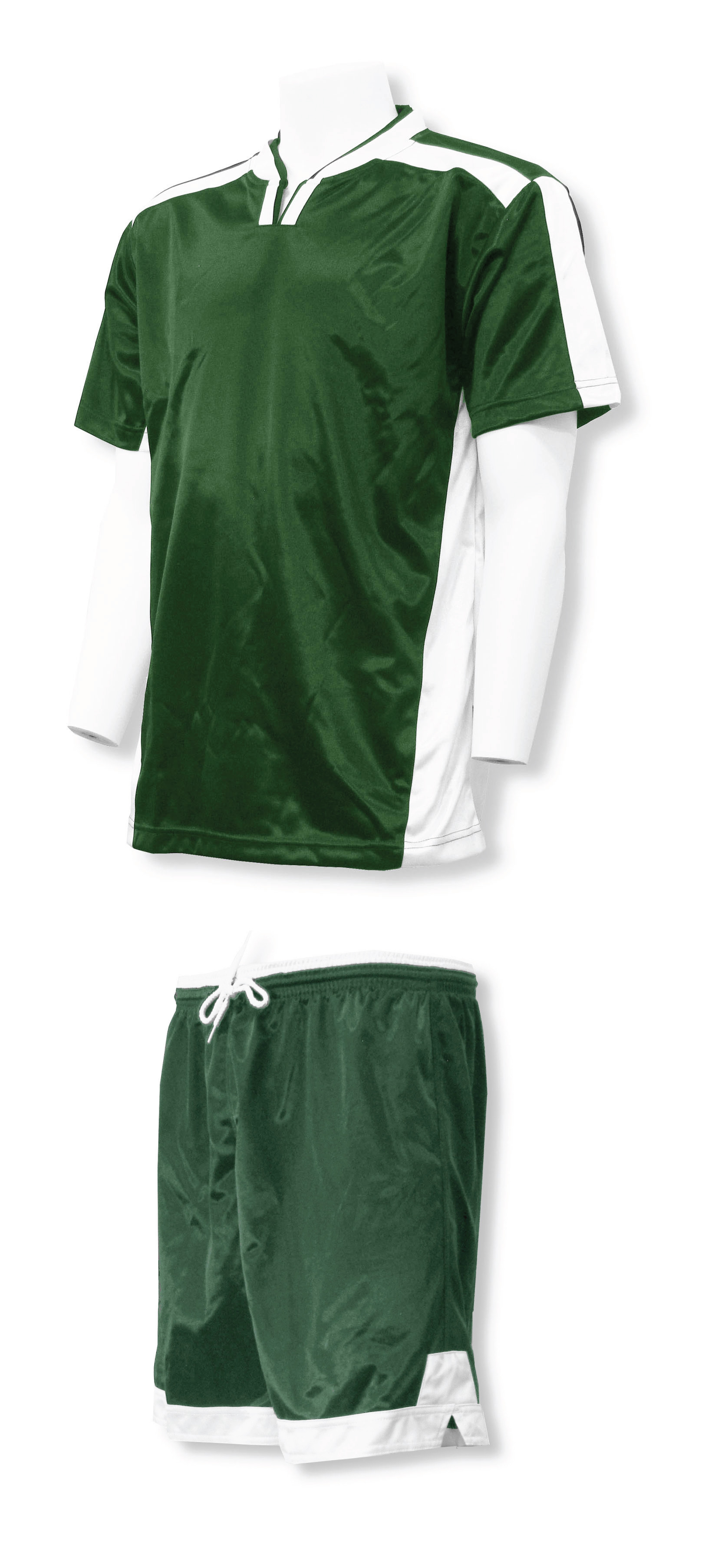 Winchester soccer uniform kit in forest/white by Code Four Athletics