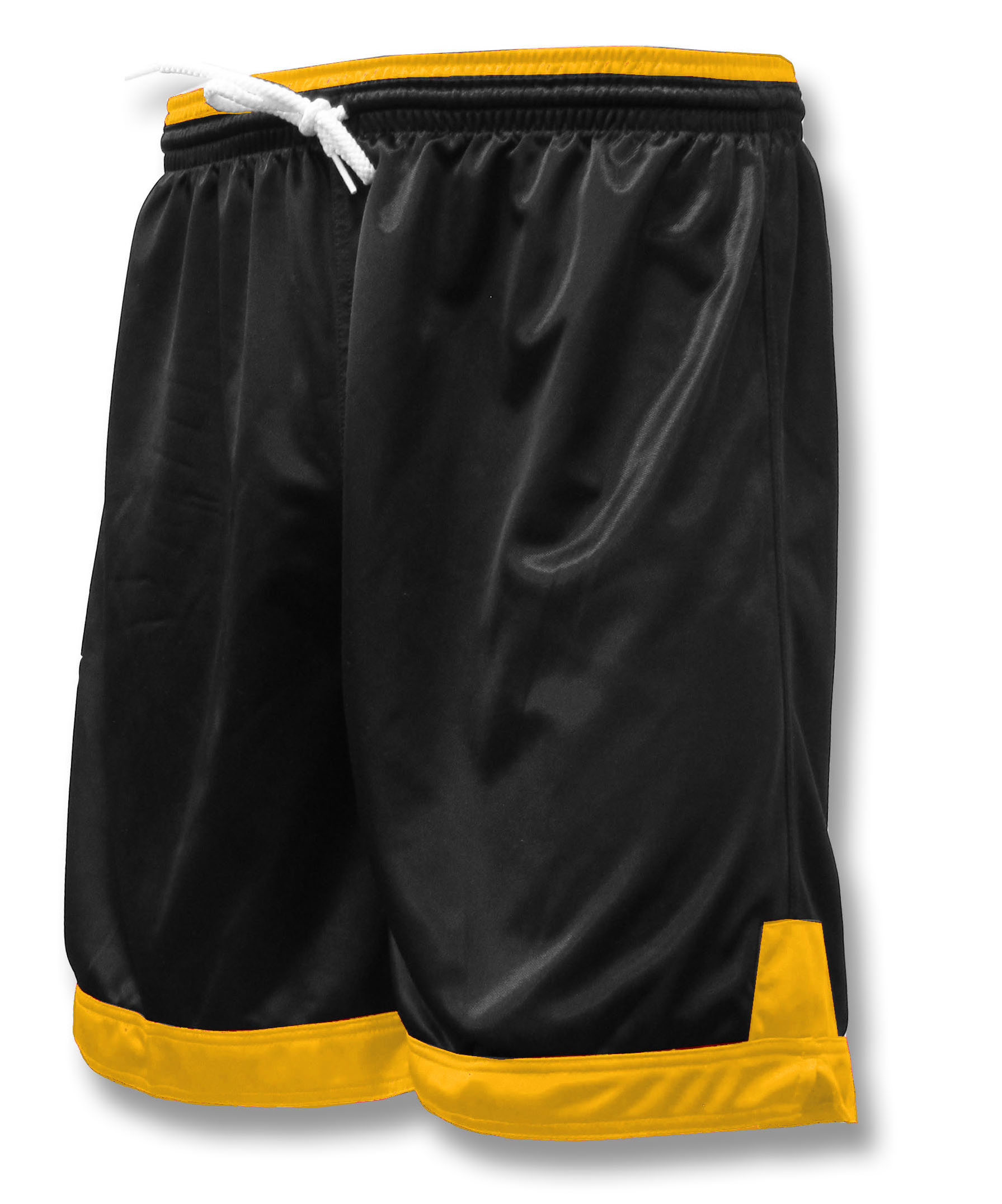Winchester soccer shorts in black / gold by Code Four Athletics