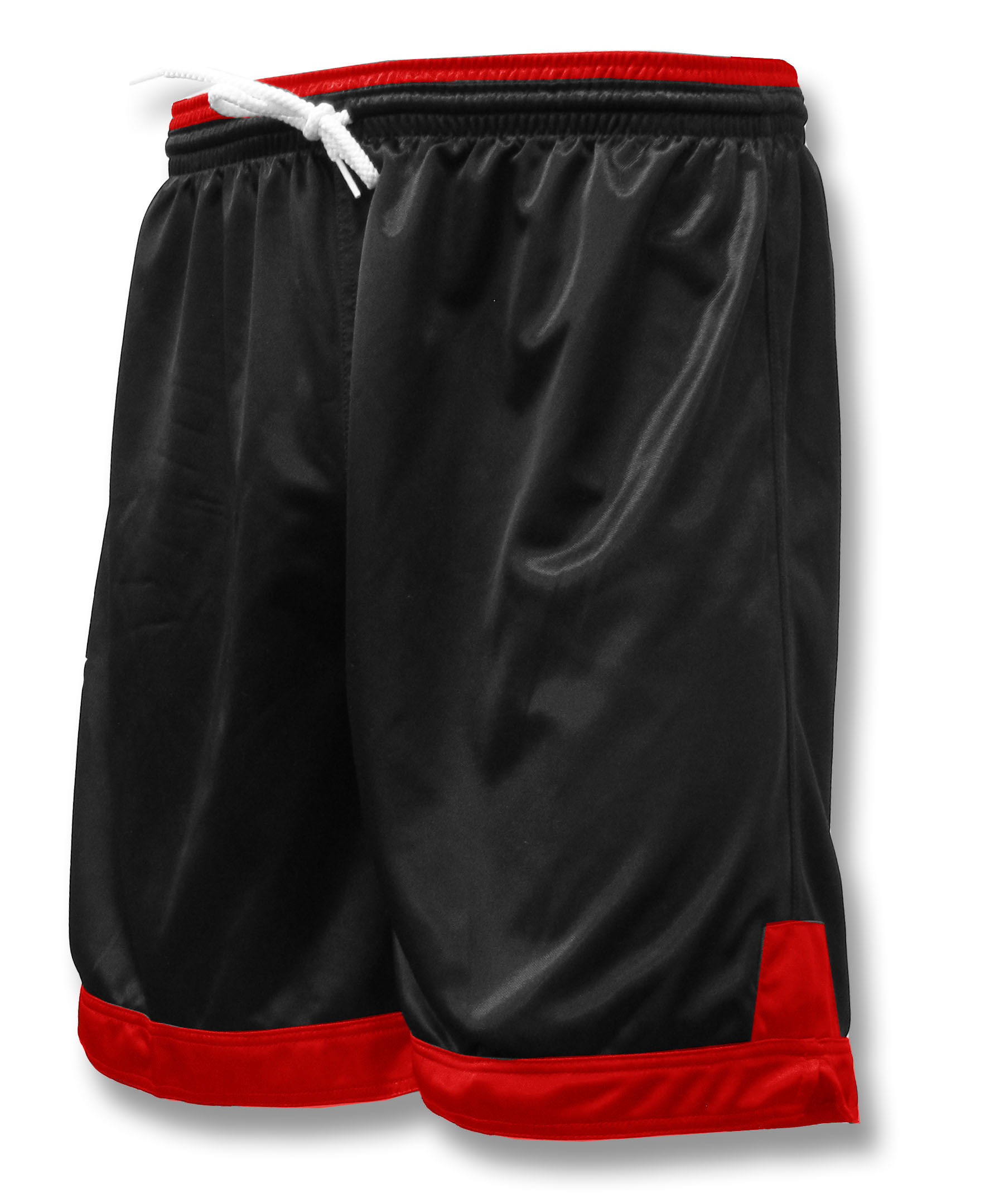 Winchester soccer shorts in black / red by Code Four Athletics