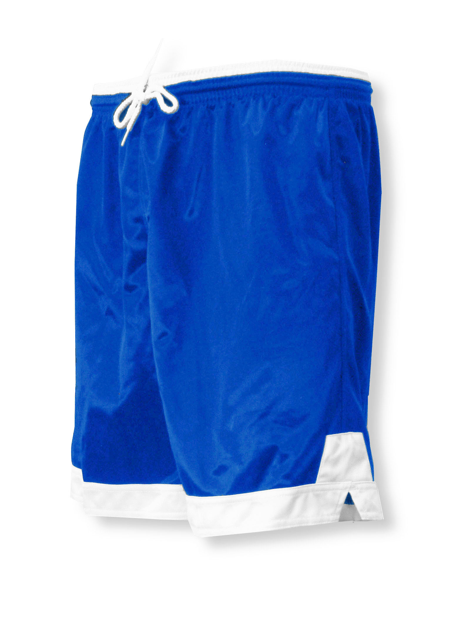 Winchester soccer shorts in royal/white by Code Four Athletics