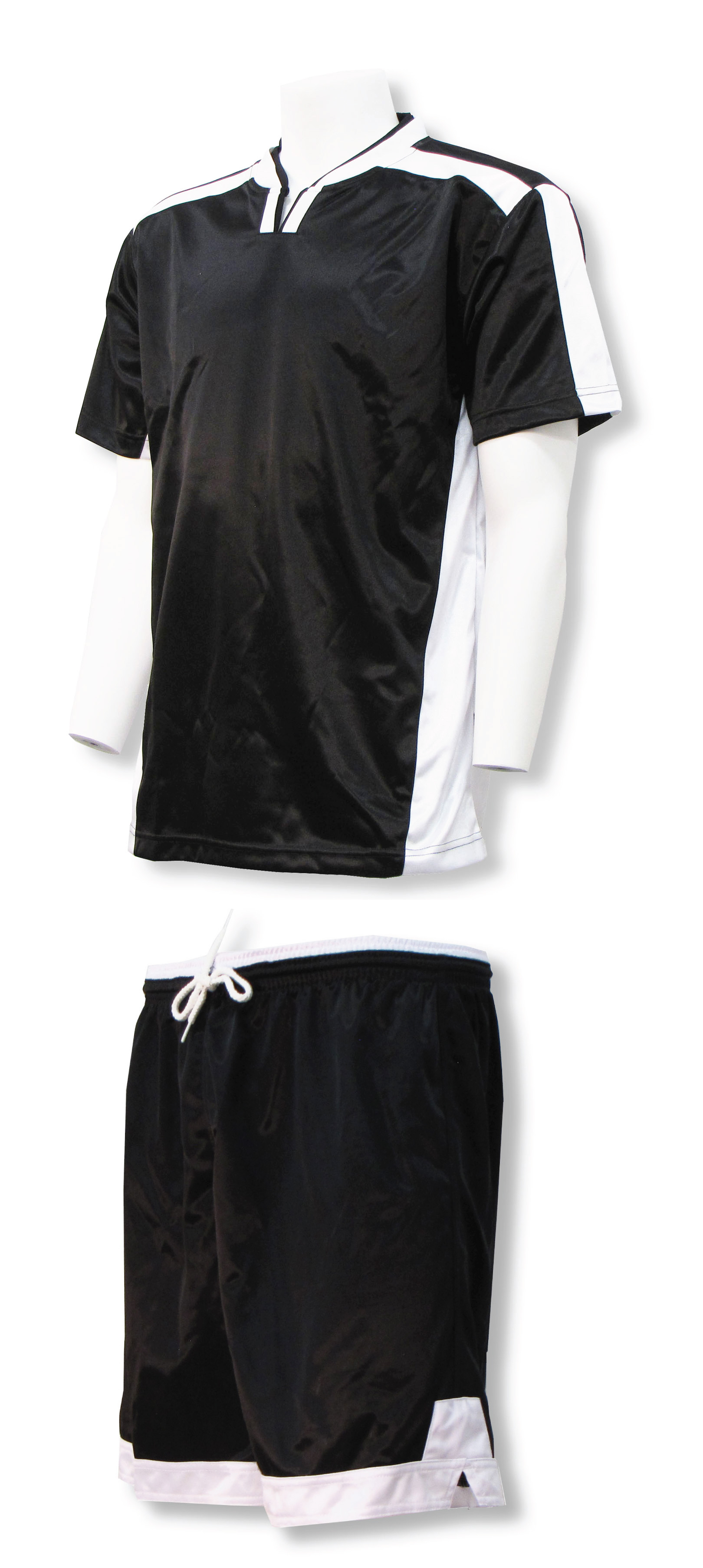 Winchester jersey and short set in black/white by Code Four Atheltics