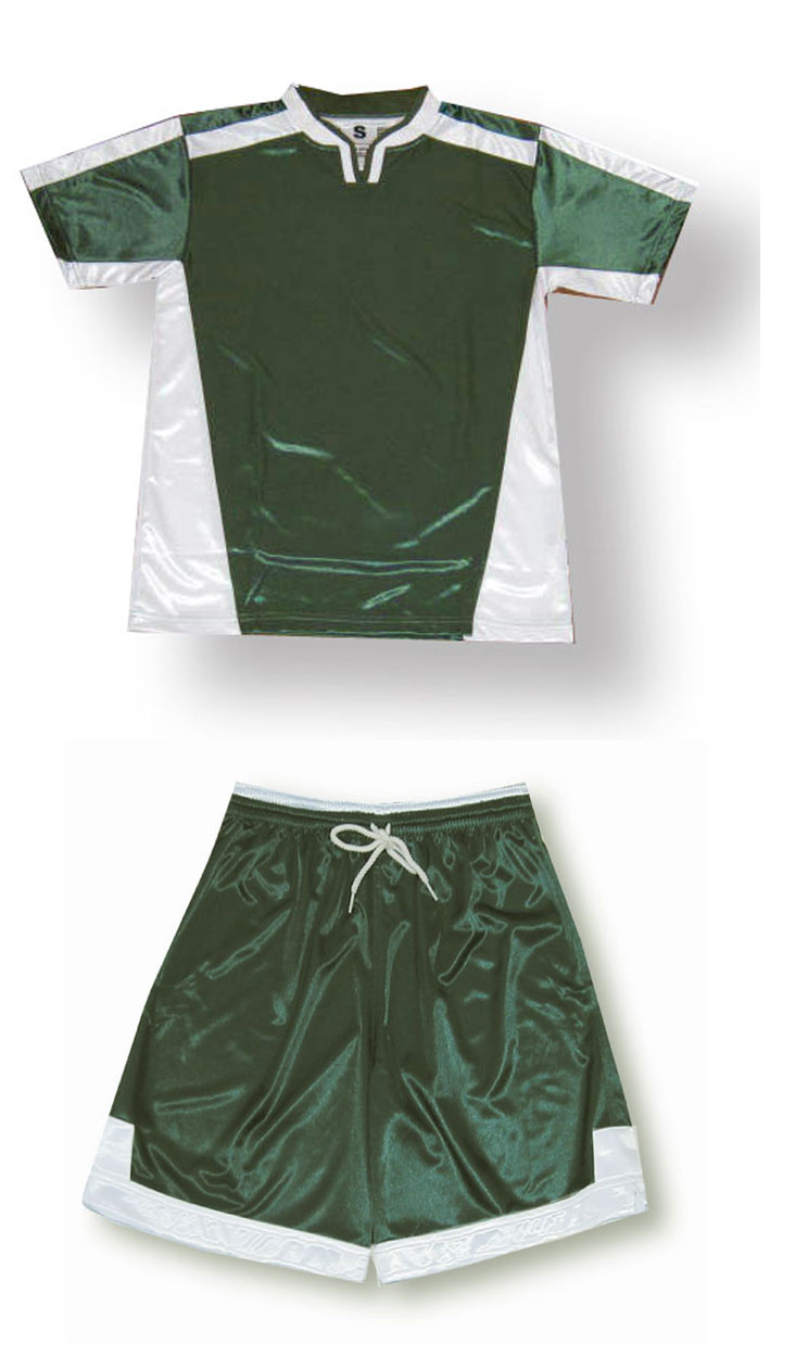 Winchester soccer jersey and shorts set in forest/white by Code Four Athletics