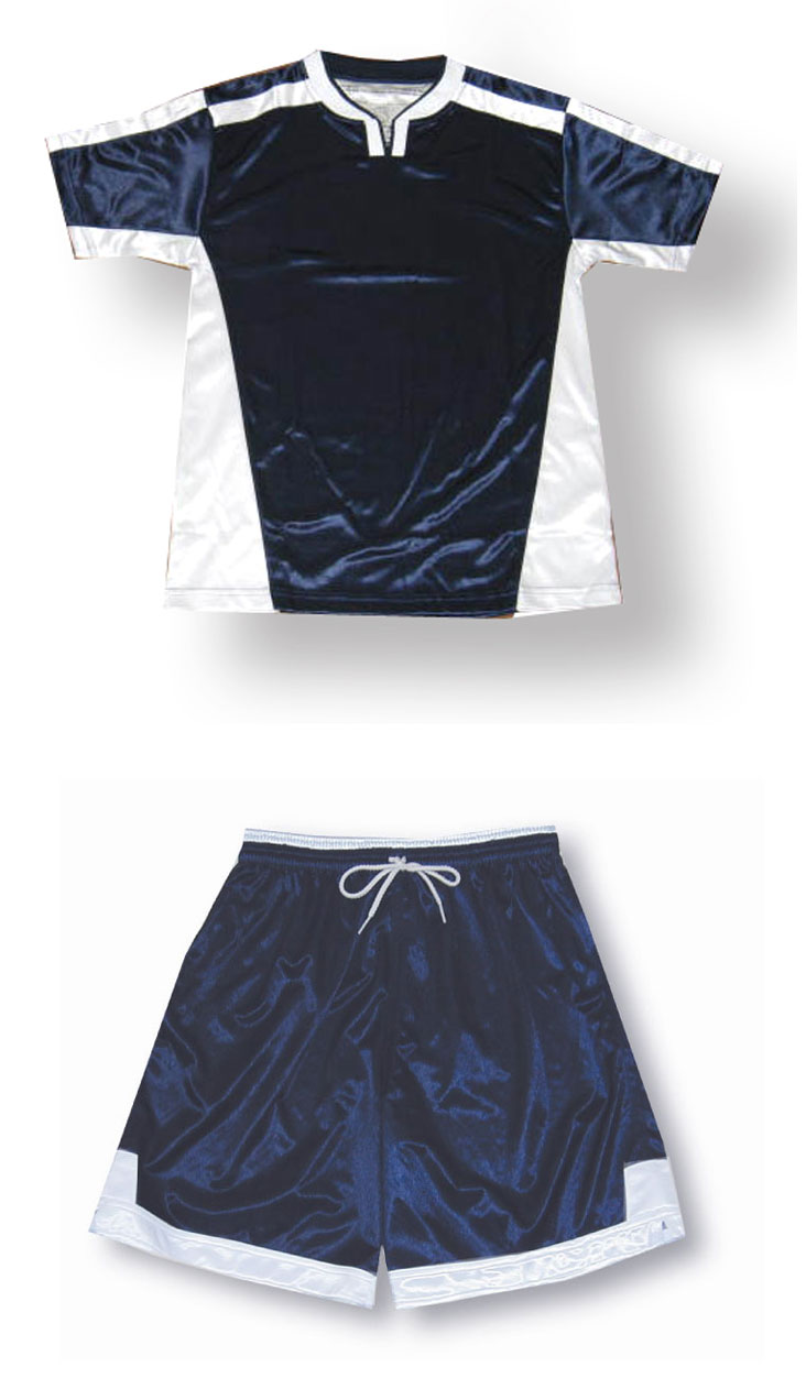 Winchester soccer jersey and shorts set in navy/white by Code Four Athletics