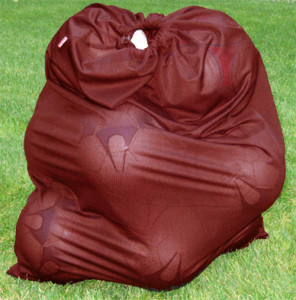 Soccer Ball bag in maroon by Code Four Athletics