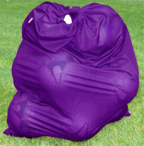 Soccer Ball Bag in purple by Code Four Athletics