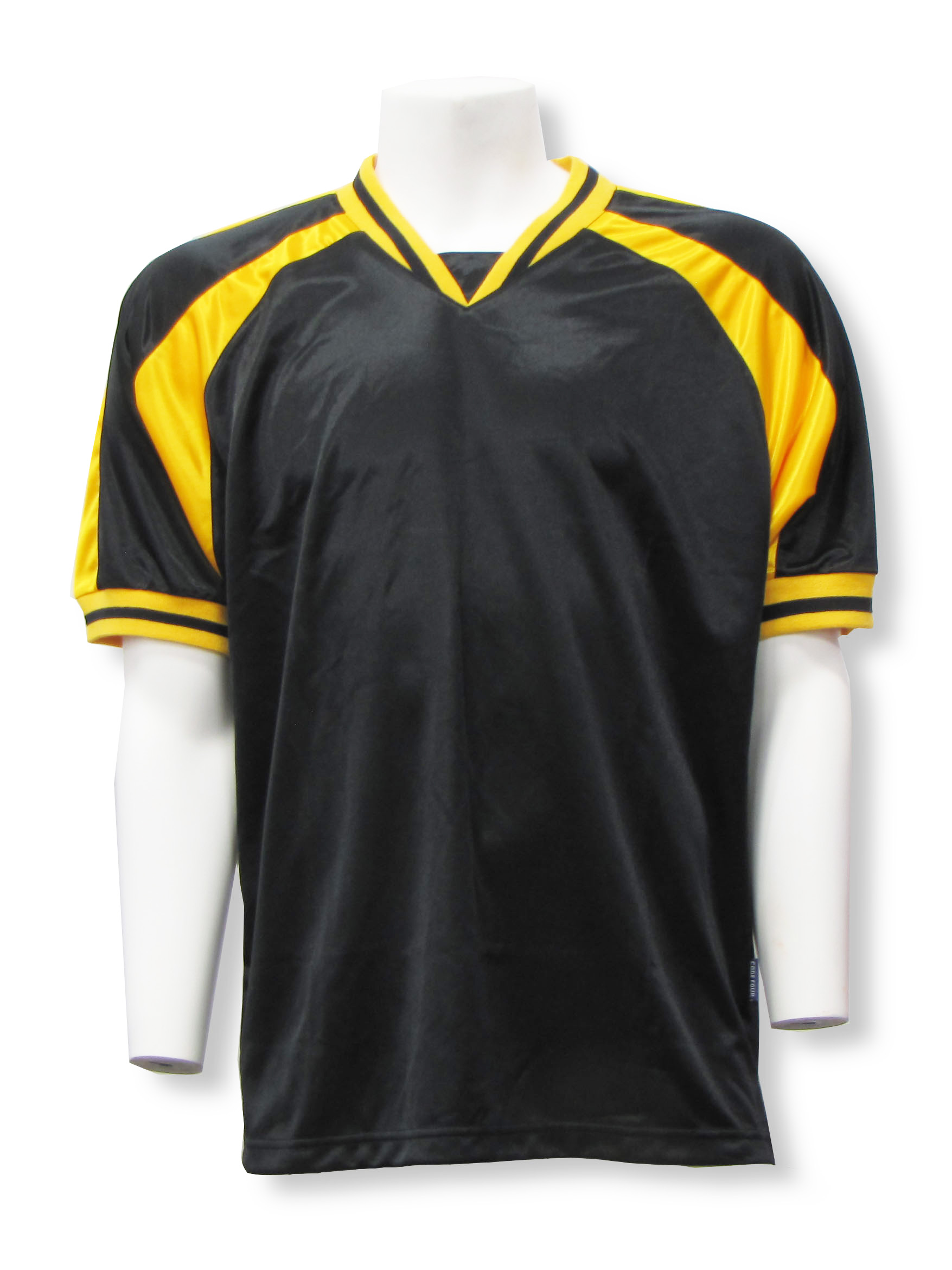 Spitfire soccer jersey in black/gold by Code Four Athletics