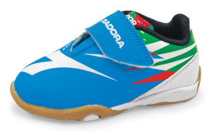 Diadora toddler soccer shoes in blue by Code Four Athletics