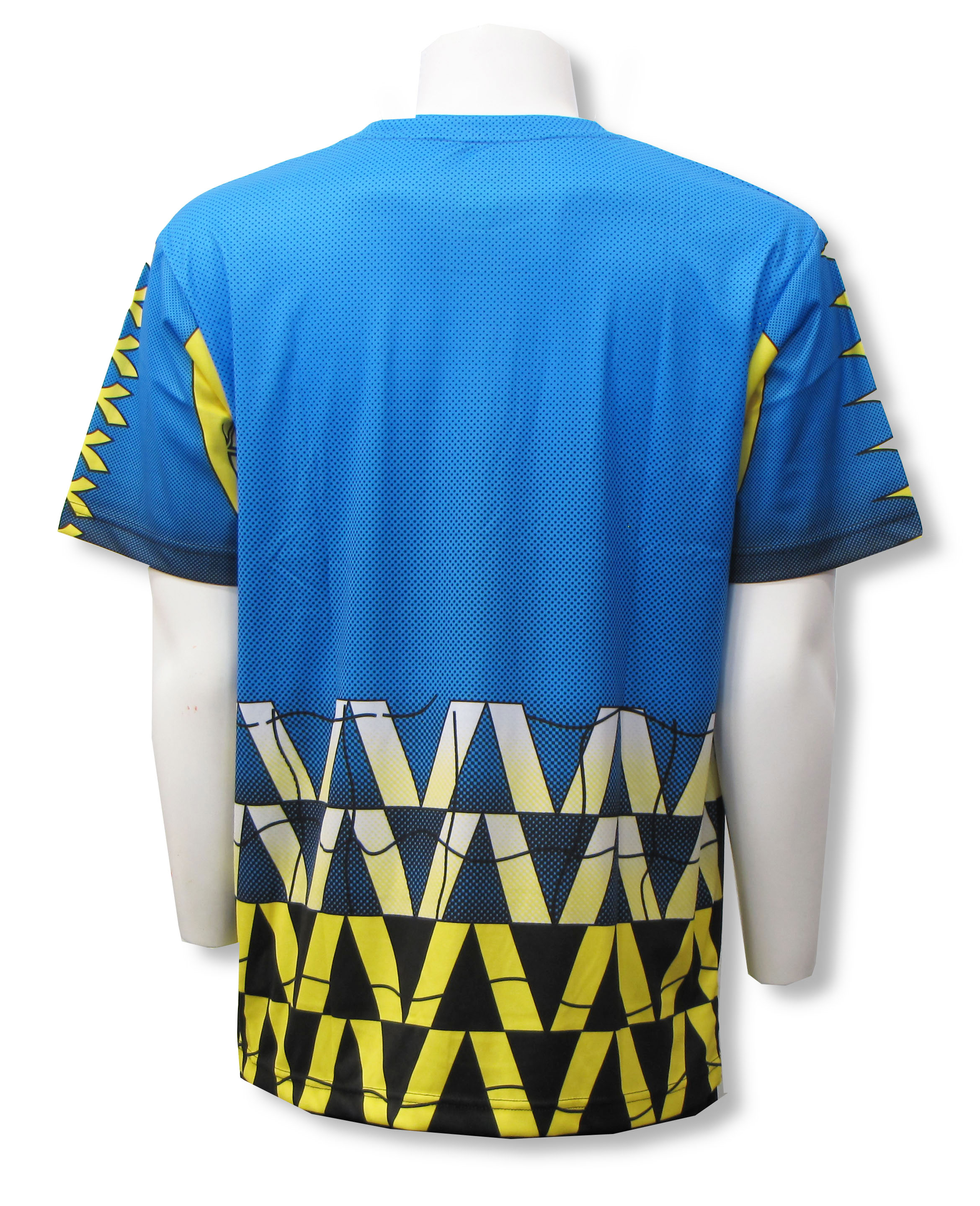 Diadora Fresco short sleeve keeper jersey, back, in Columbia Blue by Code Four Athletics