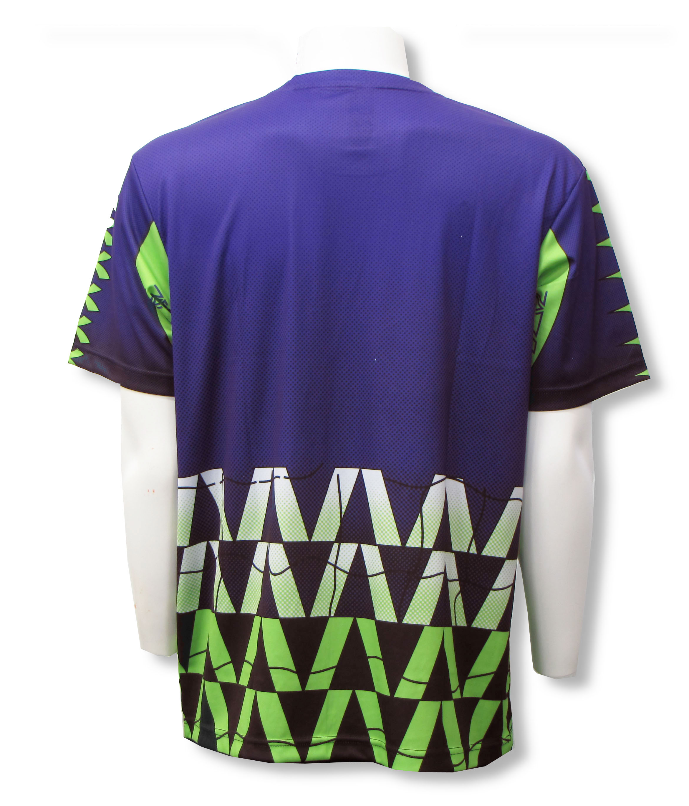 Diadora Fresco short sleeve goalie jersey in purple, back, by Code Four Athletics
