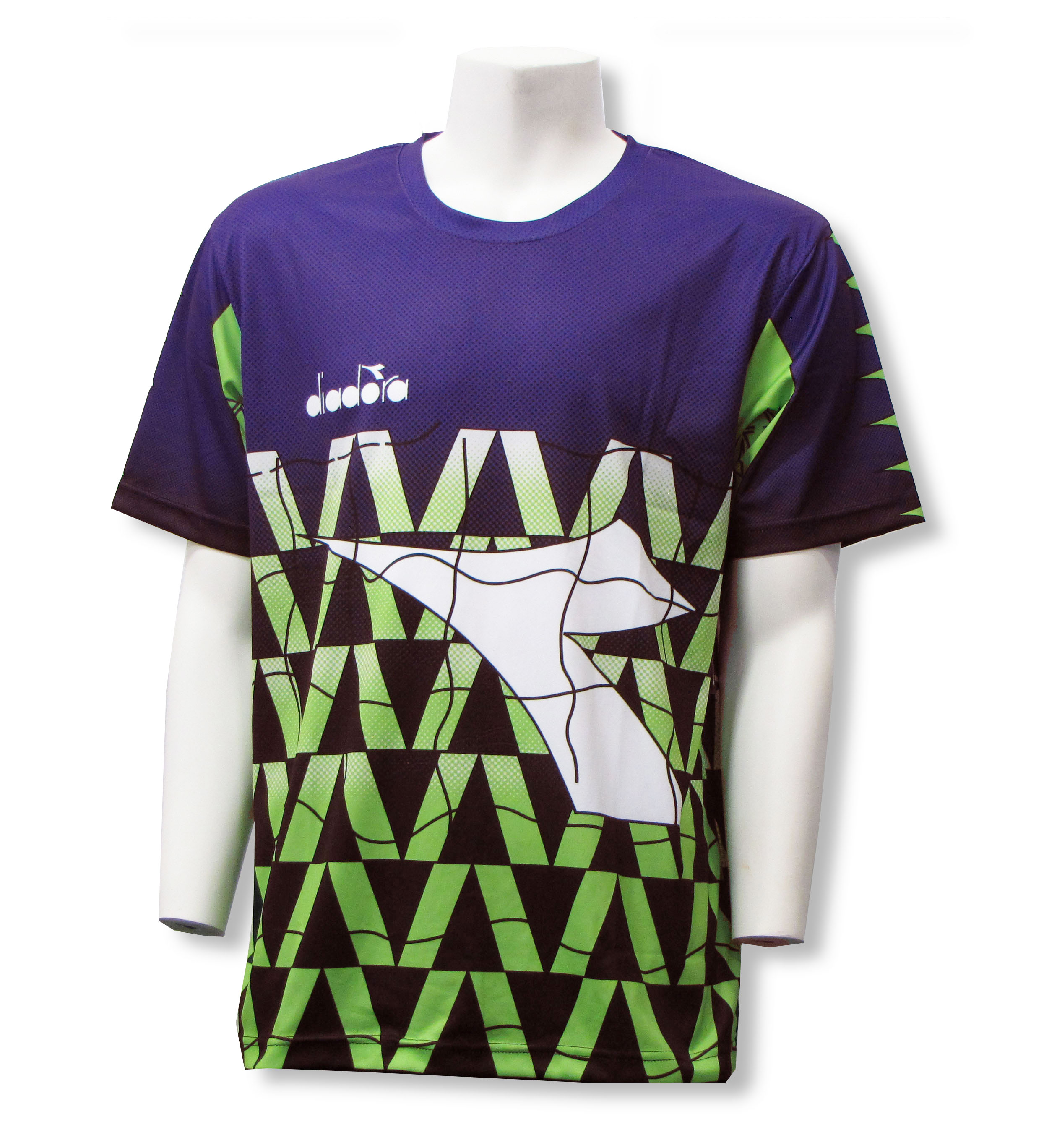 Diadora Fresco short sleeve goalie jersey in purple, front, by Code Four Athletics