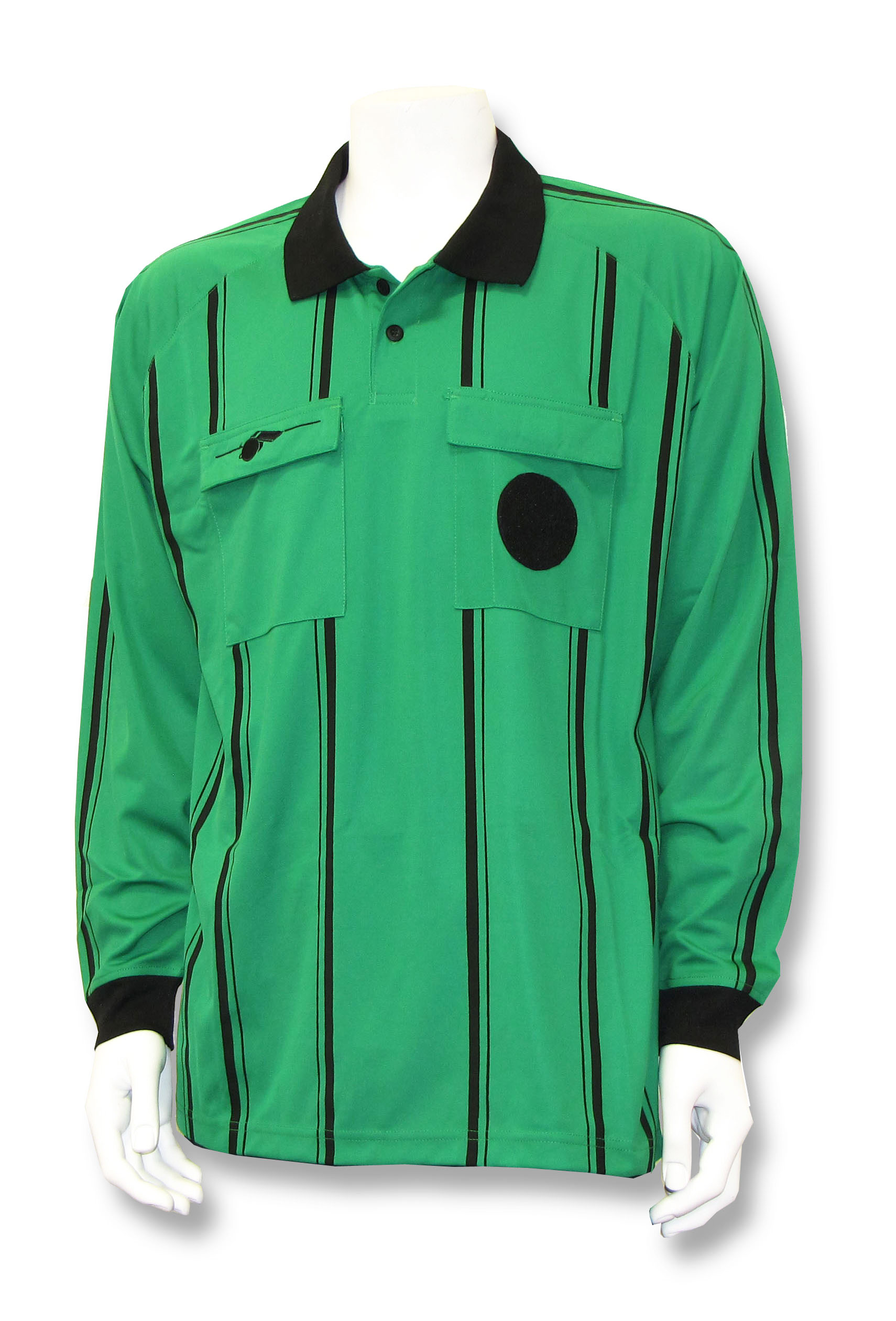 Soccer referee long-sleeve jersey in green by Whistleline
