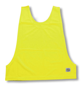 Soccer Pinnie in neon yellow by Code Four Athletics