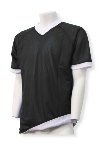 Reversible C4 soccer jersey in black/white