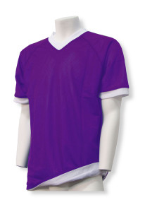 Soccer reversible jersey in purple/white