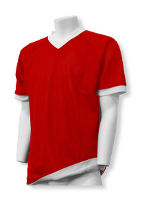 Soccer reversible jersey in red/white