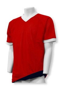 Soccer-Flag Football reversible jersey in red/black by Code Four Athletics