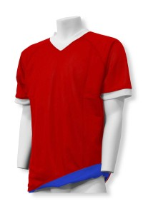 Reversible soccer jersey in red/royal by Code Four Athletics