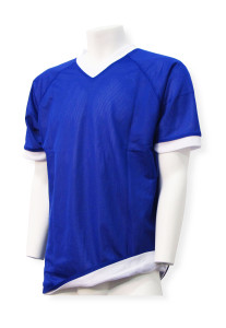 Soccer reversible jersey in royal/white