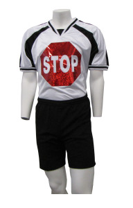 Stop Sign Goalkeeper jersey with black shorts