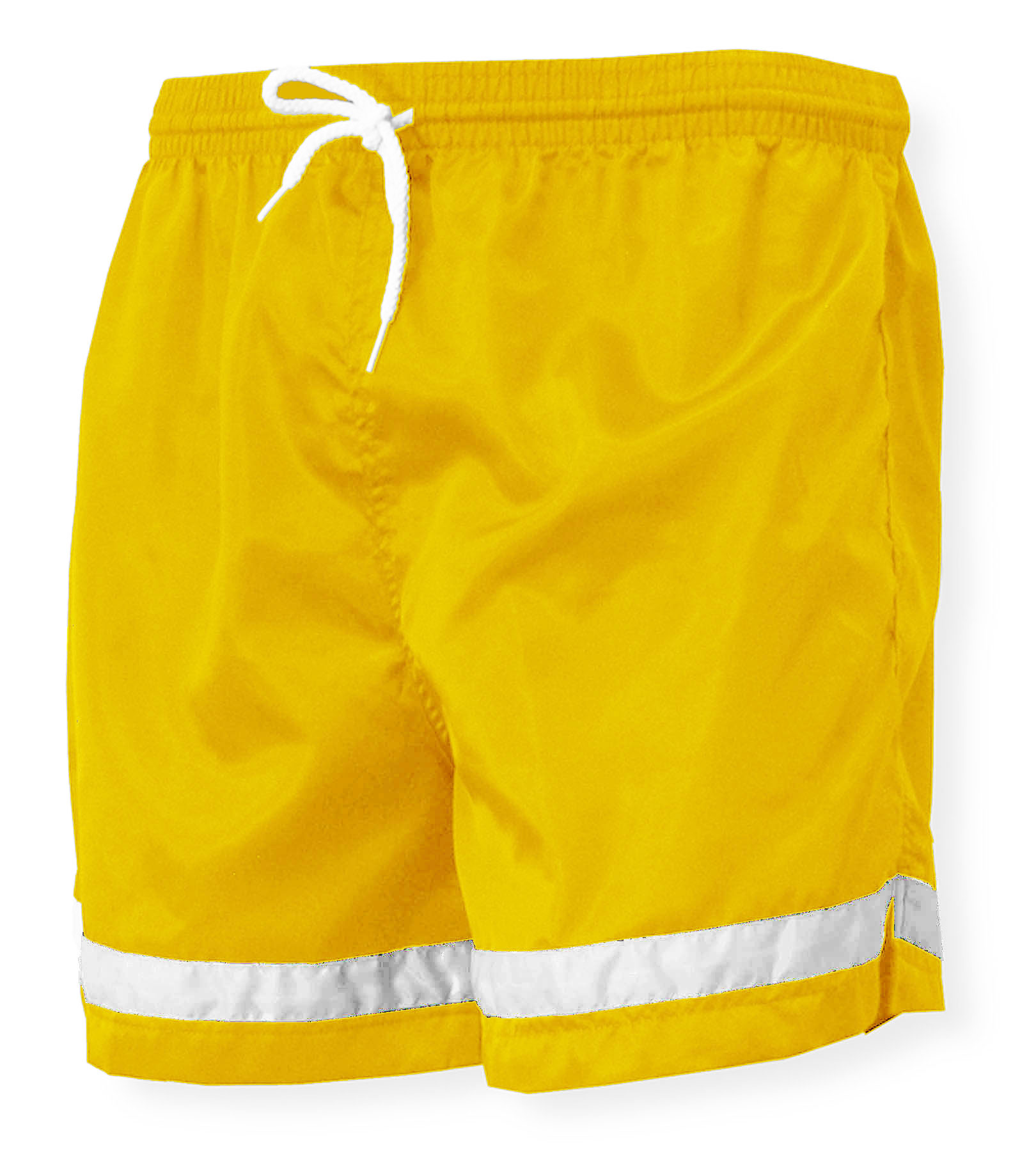 Vashon soccer shorts in gold/white by Code Four Athletics