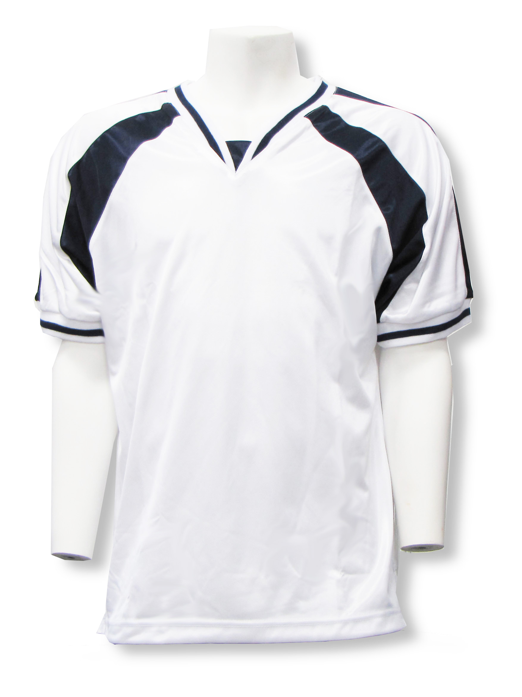 Spitfire soccer jersey in white/navy by Code Four Athletics