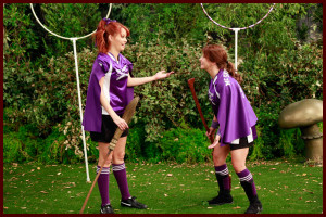 Jessie show with Code Four soccer uniforms as Quidditch uniforms