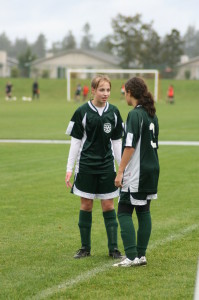 Girls in Imperial soccer jerseys by Code Four Athletics